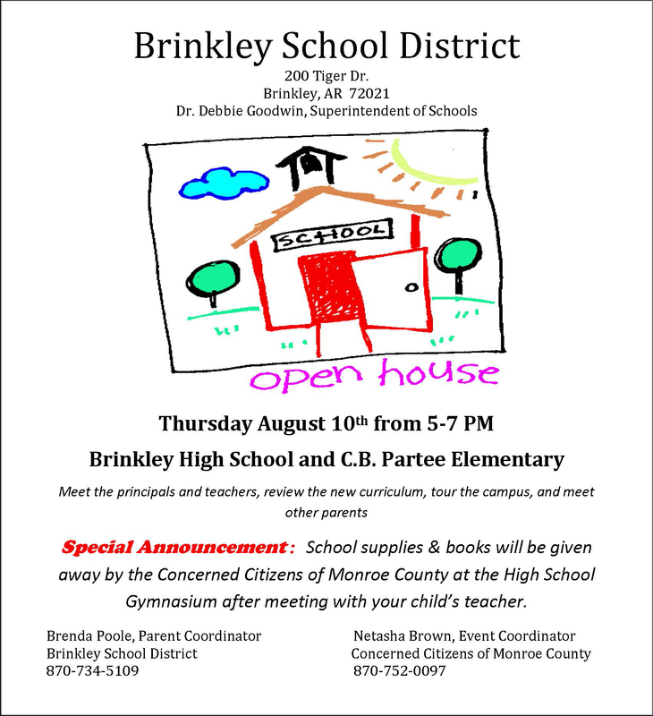 Brinkley School District Open House